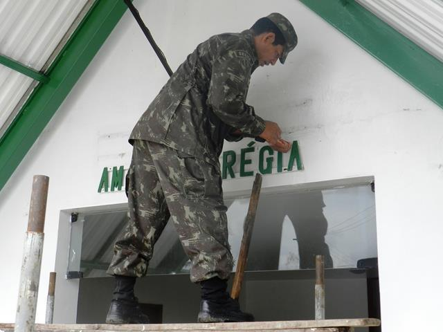 Mutirão de manutenção de áreas com vista ao AMAZONLOG 17