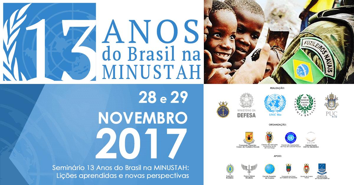 ONU e Marinha promovem evento no Rio sobre participação brasileira na MINUSTAH