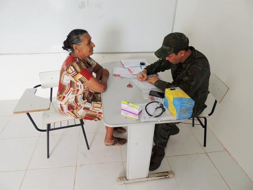 Marinha do Brasil realiza ACISO na Comunidade Ribeirinha do Caribê