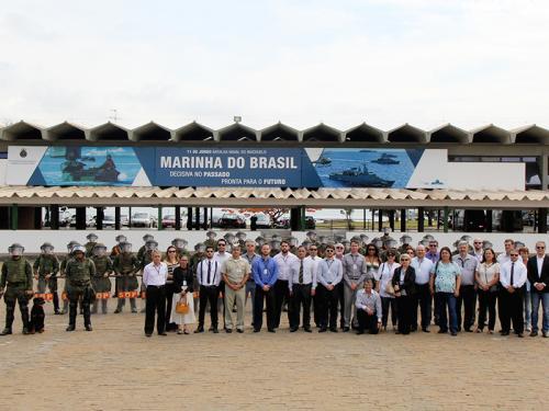 Grupamento de Fuzileiros Navais de Brasília recebe visita da ADESG de Uberlândia
