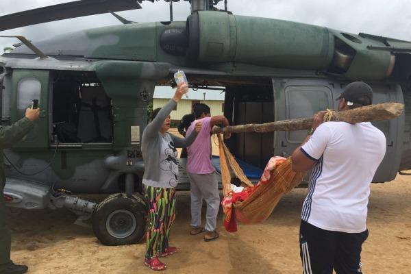 Esquadrão Harpia socorre indígena na fronteira noroeste do Brasil
