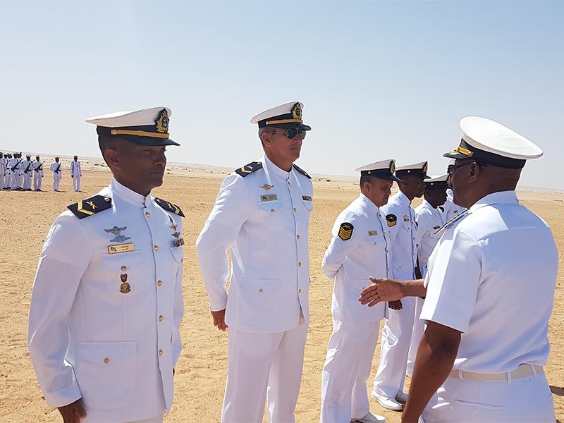 Cerimônia de encerramento dos cursos do Corpo de Fuzileiros Navais da Namíbia