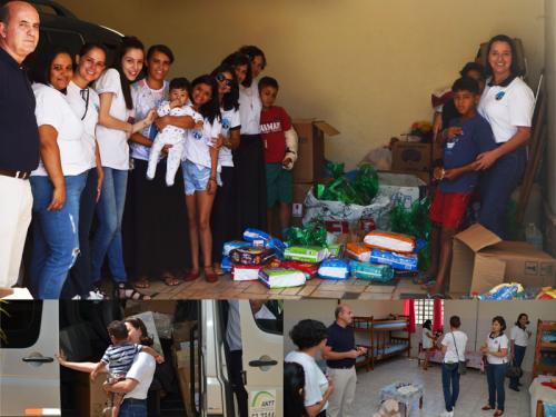 Voluntárias Cisne Branco Brasília entregam doações