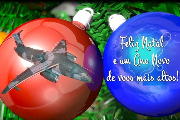 Força Aérea Brasileira deseja boas festas e feliz 2018