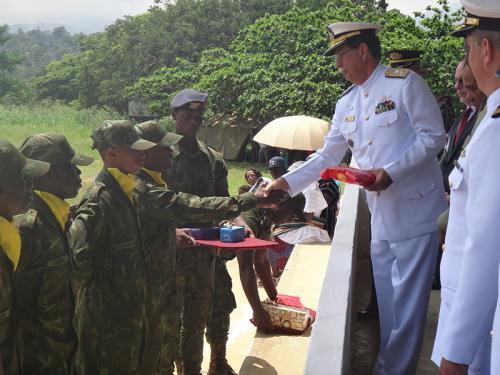 Soldados Fuzileiros Navais de São Tomé e Príncipe concluem curso de formação