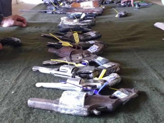 Operação Vulcão leva mais de 600 armas apreendidas pela justiça em Sergipe e na Bahia para pré-destruição