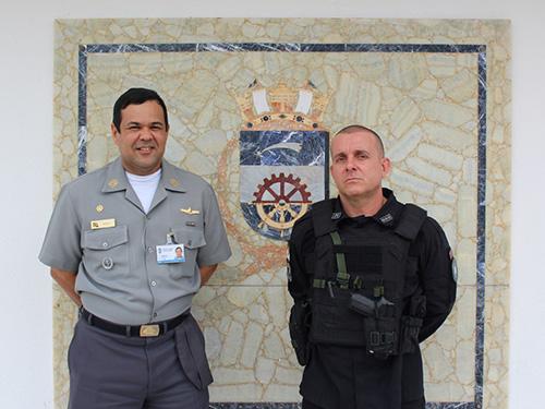 Base Naval de Natal recebe palestra de instrutor do Batalhão de Operações Especiais da Polícia Militar