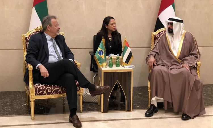 Nos Emirados Árabes, Jungmann reúne-se com o príncipe herdeiro de Abu Dhabi