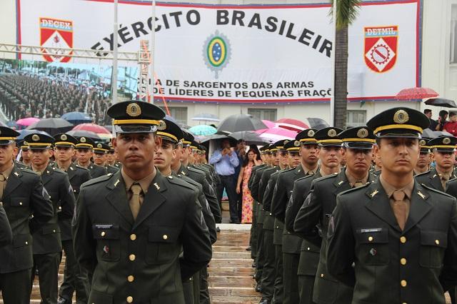 Turma de Formação de Sargentos 2017 recebeu a denominação de Turma Retirada da Laguna