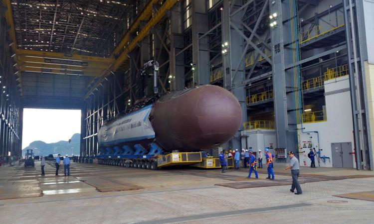 Marinha realiza transferência das Seções do Submarino Riachuelo