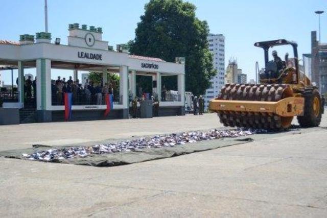 Cooperação leva mais de 4 mil armas de fogo, fruto de apreensões no estado de Minas Gerais, para destruição