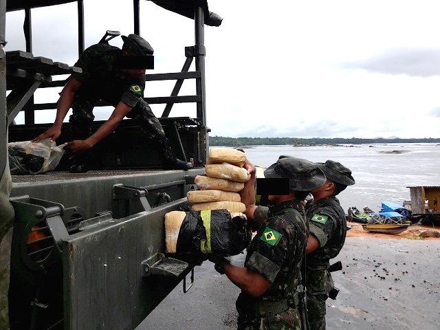 Exército Brasileiro apreende mais meia tonelada de Skank no noroeste do Amazonas