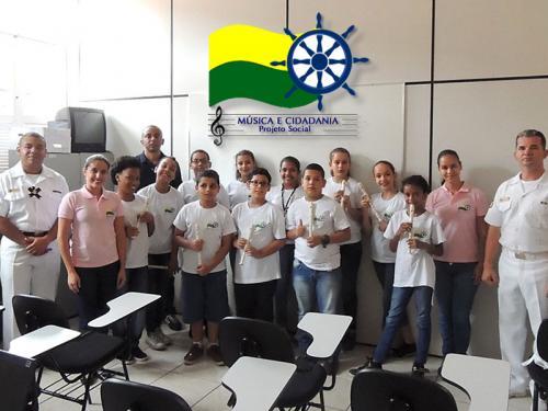 Projeto do Batalhão Naval beneficia jovens de comunidades carentes do Rio