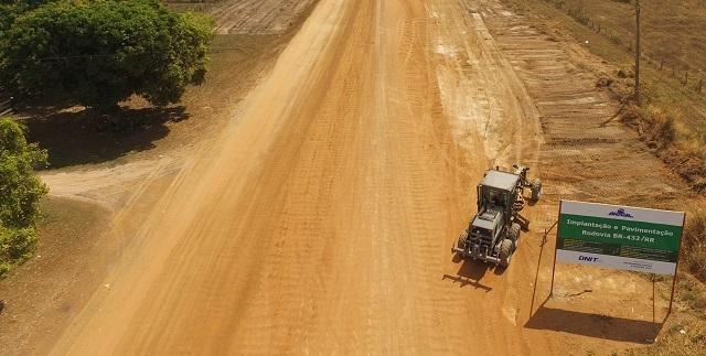 Exército Brasileiro dá início a obras de Engenharia na Rodovia BR-432, no interior do estado de Roraima