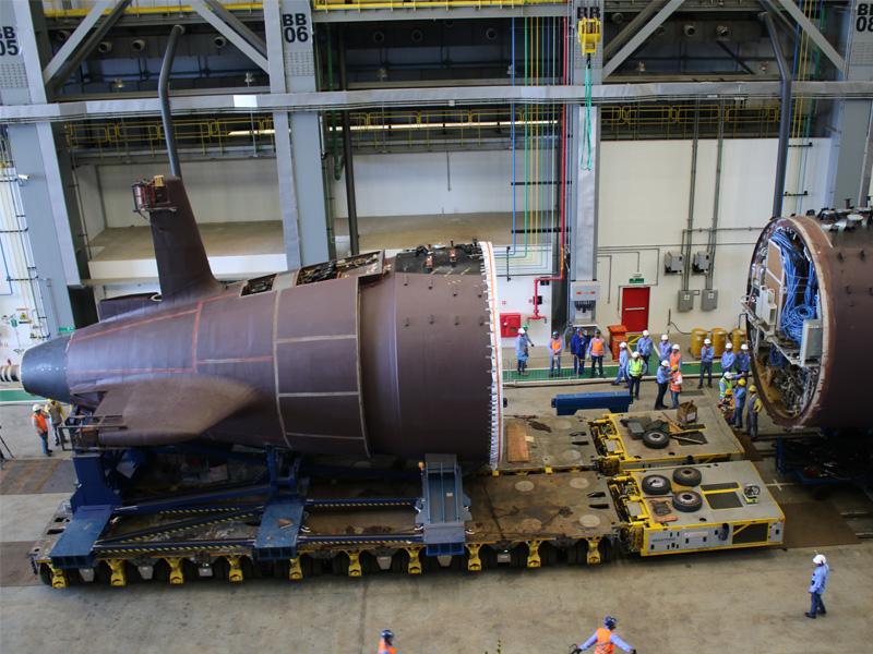 Estaleiro de Construção do Prosub recebe as seções do primeiro submarino convencional