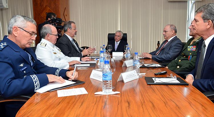 Reunião de Conselho Militar de Defesa conta com presença de presidente da República