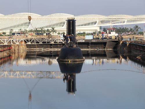 Arsenal de Marinha realiza docagem de dois submarinos em sequência