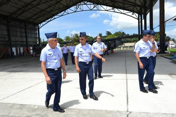 Comandante da FAB e comitiva realizaram visita à Guarnição de Belém (PA)