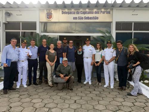 Comando do 8º Distrito Naval recebe visita de oceanógrafa no Arquipélago de Alcatrazes