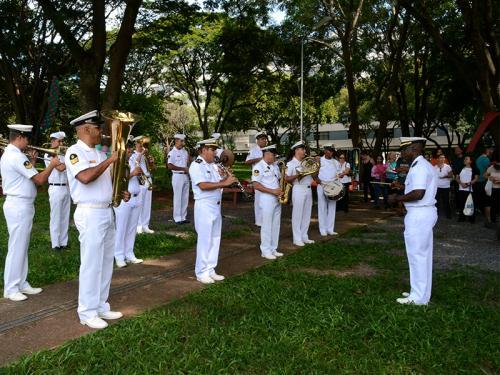 Banda de Música do Grupamento de Fuzileiros Navais de Brasília participa de eventos do Ano Novo Chinês