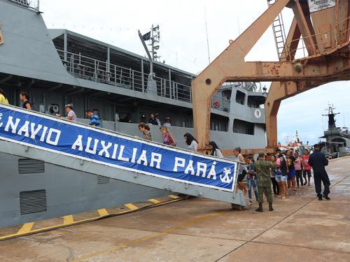 Ação Cívico-Social é realizada para comemorar o 100º aniversário da Capitania Fluvial de Santarém