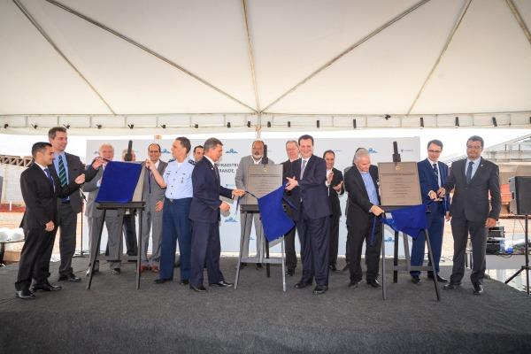 Ato marca inauguração de estruturas importantes à operação de satélite brasileiro
