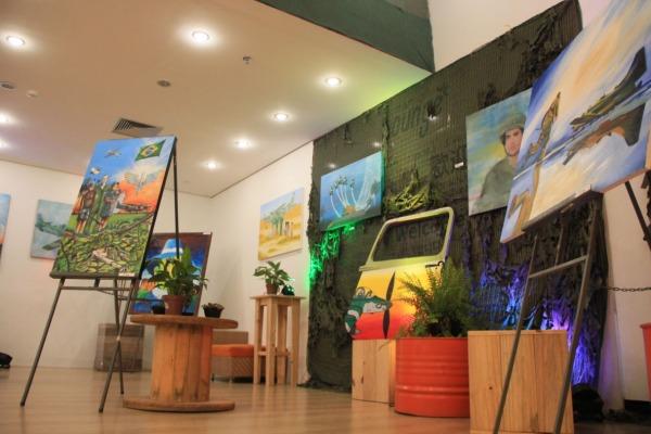 EXPOFAB apresenta obras de arte sobre trabalho da FAB em Roraima