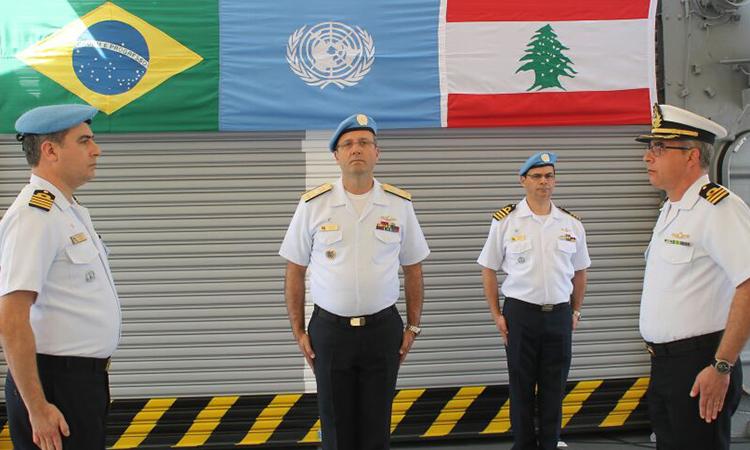"""Fragata """"Independência"""" assume como novo capitânia da Força-Tarefa Marítima no Líbano"""