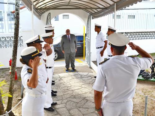 Capitania dos Portos de Alagoas recebe visita do Presidente do Tribunal Regional de Alagoas