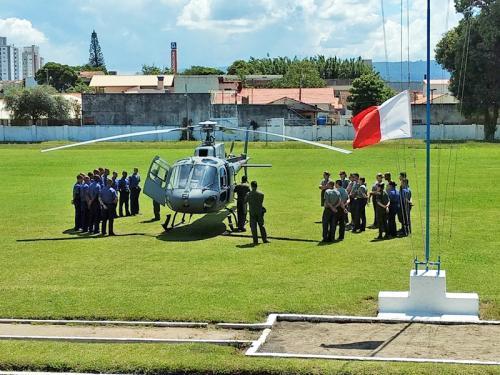 Vistoria de segurança de aviação é realizada na Escola de Aprendizes Marinheiros de Santa Catarina