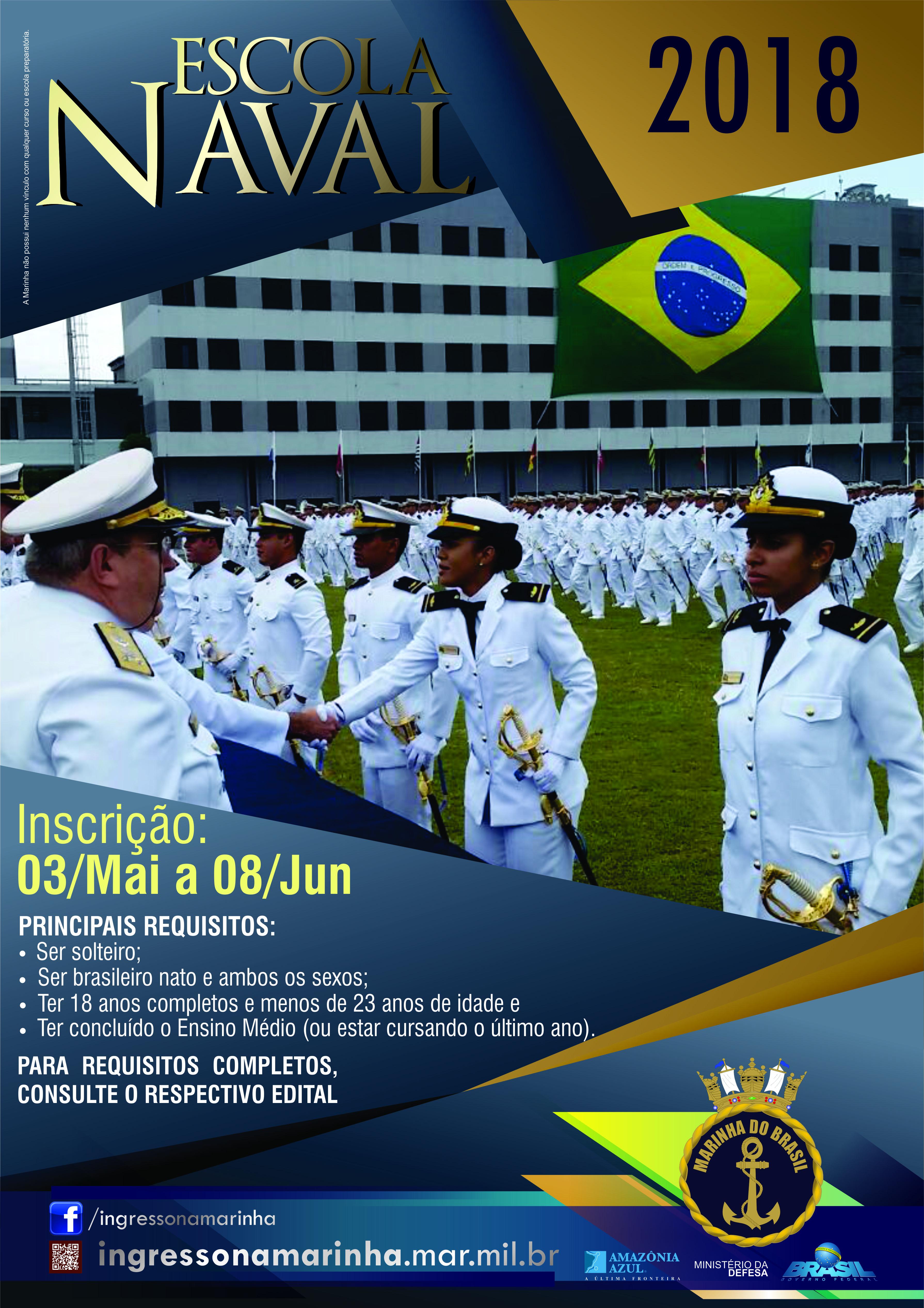 Escola Naval abrirá inscrições no próximo mês