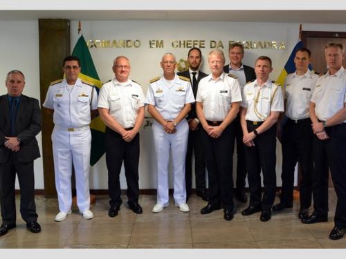 Esquadra recebe visita de comitiva do Ministério da Defesa da Suécia