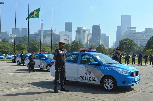 Gabinete de Intervenção Federal entrega 147 novas viaturas operacionais à Polícia Militar do Rio de Janeiro.