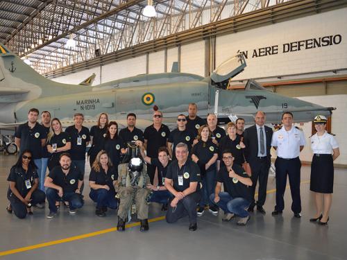 Associação dos Diplomados da Escola Superior de Guerra de Minas Gerais visita Complexo Aeronaval de São Pedro da Aldeia