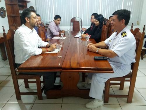 Capitania dos Portos do Amapá recebe visita do prefeito de Macapá-AP
