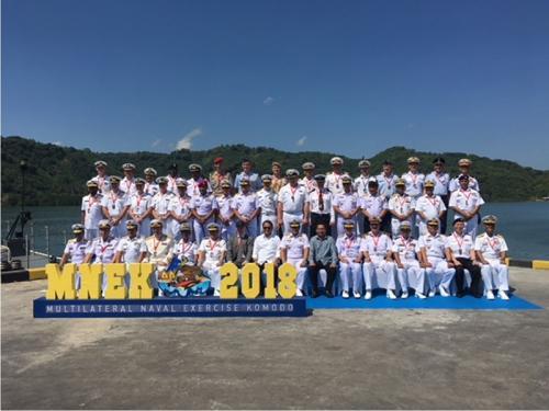 """Marinha do Brasil participa do 3º Exercício Naval Multilateral """"Komodo-2018"""", na Indonésia"""