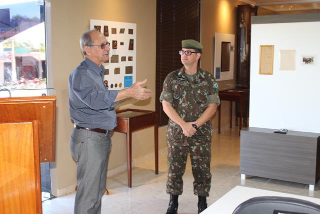Visita do Ex-Comandante, Coronel R/1 Antônio Celso Ribeiro