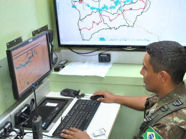 14ª Companhia de Comunicações Mecanizada participa da validação do Sistema Integrado de Monitoramento de Fronteiras