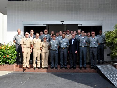 """US Navy realiza Subject Matter Experts Exchange para militares da Marinha do Brasil em proveito da """"Operação PANAMAX 2018"""""""