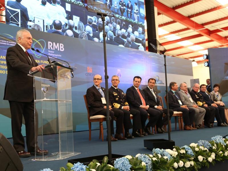 Presidente Michel Temer dá início à construção do RMB e aos testes de integração dos turbogeradores do LABGENE