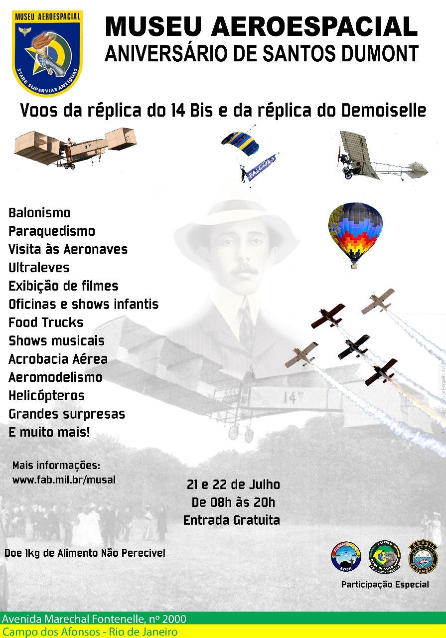 Convite a Imprensa: Aniversário de 145 anos de Santos Dumont