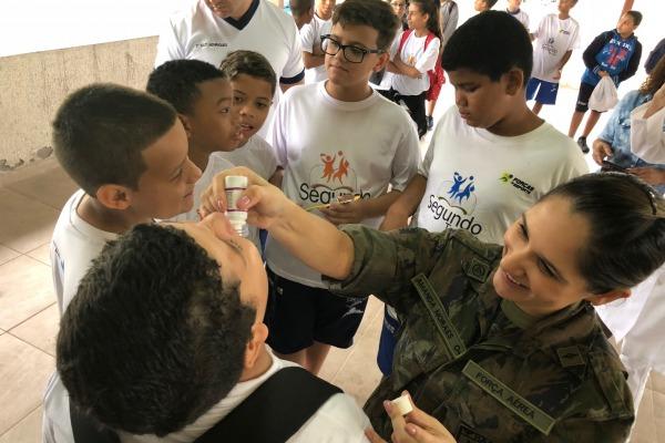 Hospital de Aeronáutica dos Afonsos promove ação de saúde bucal