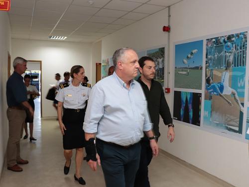 Diretor-Executivo da Rede Globo visita o Centro de Educação Física Almirante Adalberto Nunes