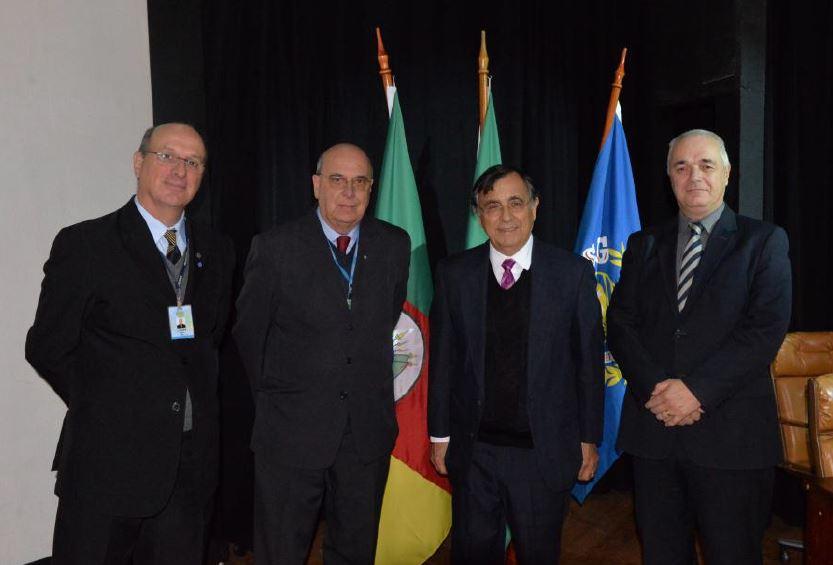 Cel Rogério Petry, Dr. Everton Marc, Gen Umberto Andrade e o Prof. Luis Pfluck
