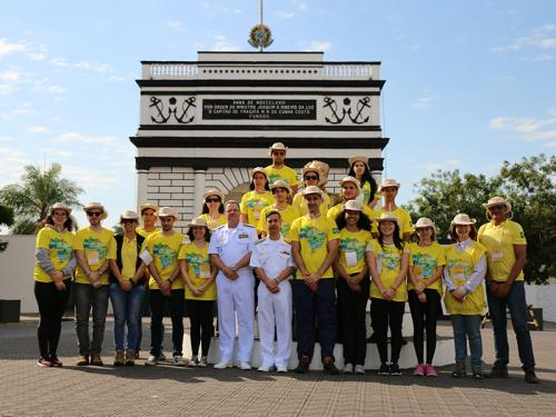 Comando do 6º Distrito Naval recebe a visita de professores e alunos do Projeto Rondon