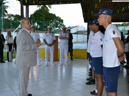Comitiva do Ministério da Defesa visita Núcleo do Programa Forças no Esporte da Capitania dos Portos de Alagoas
