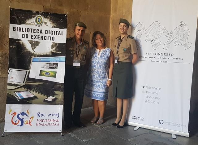 Entre mais de 10 mil artigos inscritos, Biblioteca Digital do Exército é destaque em universidade da Espanha