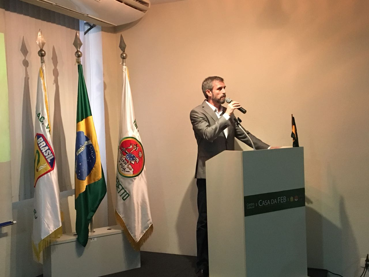 74 Anos do Desembarque da Força Expedicionária Brasileira na Itália comemorados na Casa da FEB