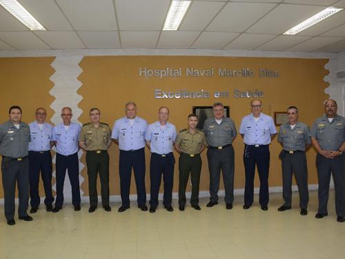 Reunião da Comissão Permanente dos Serviços de Saúde das Forças Armadas é realizada no Hospital Naval Marcílio Dias