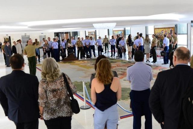 Comandante do Exército Brasileiro profere palestra aos alunos da Escola Superior de Guerra em Brasília